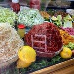 ensaladas y carnes