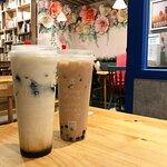 香濃珍珠奶茶 $15(正價$20,跟餐減$5)& 黑糖仙草凍鮮奶 $24(正價$29,跟餐減)
