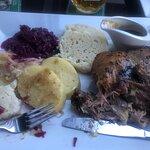 confit duck (dumplings and cabbage)