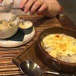 Вареники с картошкой и судак с овощами