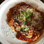 Eggplant Rollatini. I love the sauce.