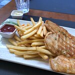 Grilled chicken with french fries
