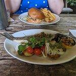 Mains - Seabass and a Burger