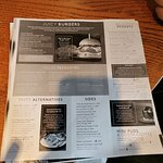 photocopy illegible menus. If you have to have disposable menus then make them clear and bigger