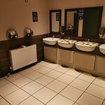 No disabled toilet. Covid spacing good and clean