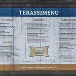 Terrace menu