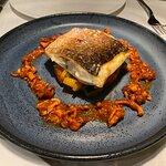 grilled seabass & vegetables