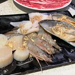 蝦, 青口, 魷魚, 帶子