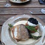Whitefish, asparagus