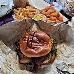 """Oh so good, Kraken burger, """"Chicken sandwich"""""""