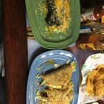 Chiles rellenos and three shredded beef tacos