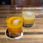 白桃梅酒 (上),芒果梅酒 (下)