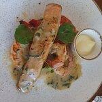 Salmon with Prawns