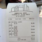 Fik lov til at betale fuld pris for kalvetatar med et kæmpe stykke sene. kr. 24,- for en kande p