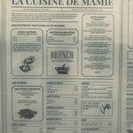 La carte de la cuisine de Mamie