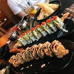 Green dragon & bonzai salmon and avocado