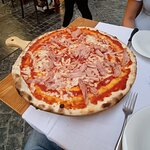Perfect and big pizza