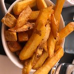 french fries with tartare