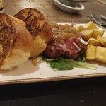 Hamburguesa de chuletón con pan brioche