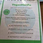 Vegan menu - VeganManFu, June 2021
