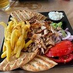 Gyros on plate