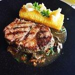 Mangalita pork with fried polenta