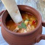 zupa rybna + focaccia