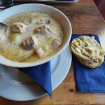 Restaurant Huippu; salmon soup