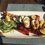 Stuffed squid with grilled vegetables