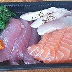 Sashimi 9pcs, Tuna, Salmon, Hälleflundra