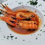 Shrimps on Buzara - shameful, 4 shrimps, no side dish