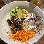 Hoisin vegan duck noodle salad