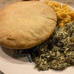 Chicken Pot Pie, Creamed Spinach & Mac & Cheese