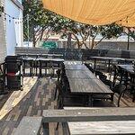 The back patio of Broth Shabu-Shabu.