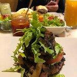 Best hamburger with green mayonaise