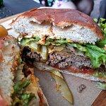 vnitřek burgeru