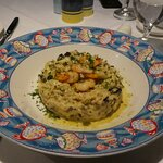 Mushroom risotto - it should come with scallops on the top but they had run out and put prawns o