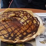 Crepe de banana y chocolate
