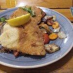 Plattfisch mit gegrilltem Gemüse