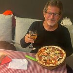 me with delicious pizza