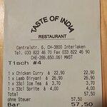 صورة فوتوغرافية لـ Taste of India Restaurant