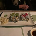 Soft shell crab rolls and Hotate asparagus rolls