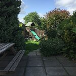 The beer garden seemed neglected and in need of some TLC