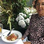 Paula with scallops starter