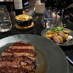 Just delicious. What a rib eye.