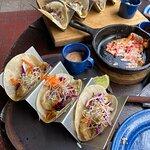Shrimp tacos for lunch