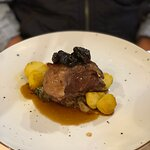 veal breast with fried sour young cabbage