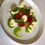 Sheep milk cheese with tomatoes