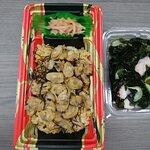 アサリご飯と酢の物