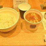 「朝セット(ゴッホの玉葱スープ+白胡麻ご飯)」